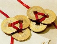 Čínske mince prosperity a zdravia